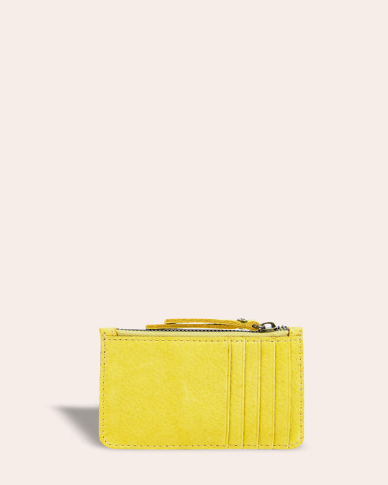 Liberty Wallet - pale yellow back