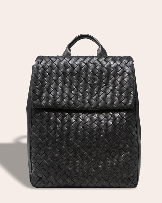 Liberty Woven Backpack - black front