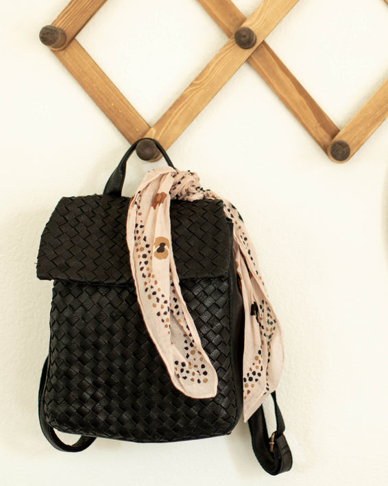 Liberty Woven Backpack - black lifestyle