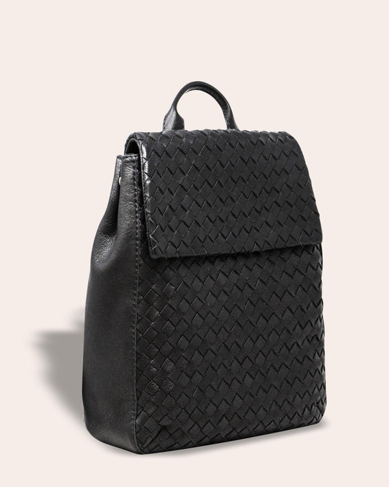 Liberty Woven Backpack - side angle