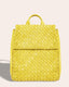 Liberty Woven Backpack - pale yellow front