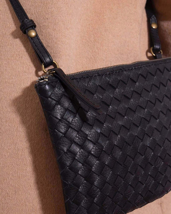 Liberty Woven Crossbody - black lifestyle
