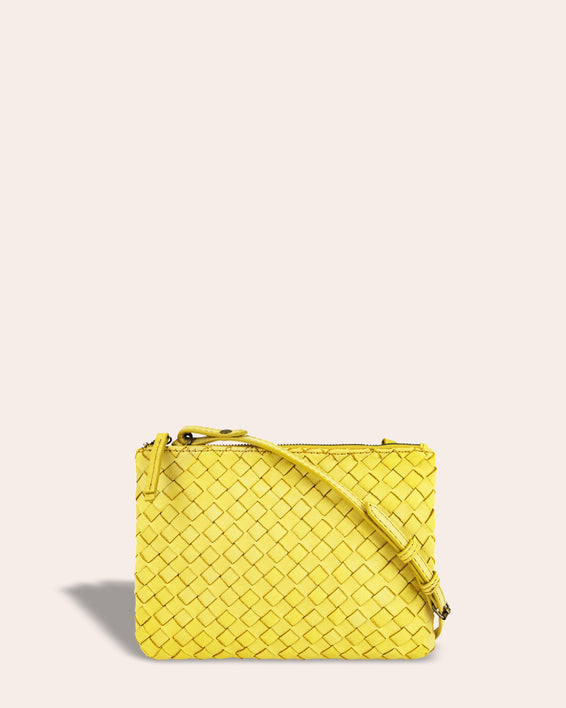 Liberty Woven Crossbody - pale yellow front