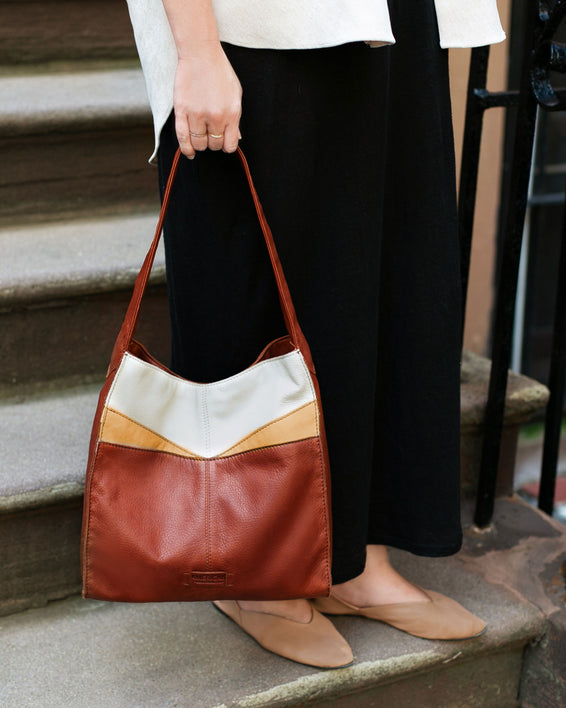 Lincoln Hobo - brandy multi lifestyle