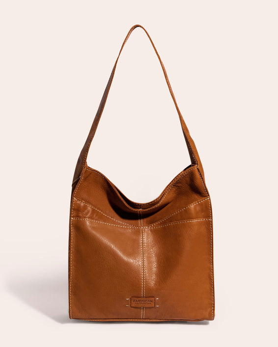 American Leather Co. Lincoln Hobo - cafe latte front