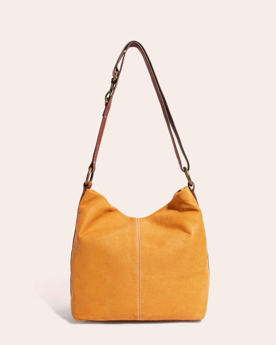 American Leather Co. Logan Convertible Hobo Apricot - back