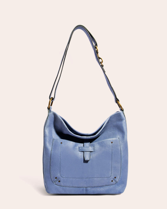 American Leather Co. Logan Convertible Hobo True Blue - front