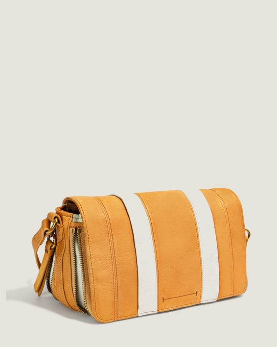 Maple Flap Crossbody - apricot side angle