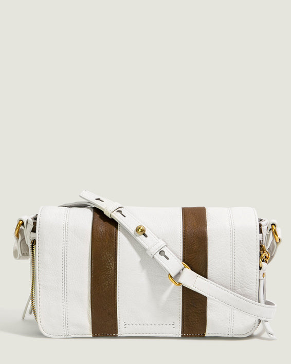 Maple Flap Crossbody - stone front