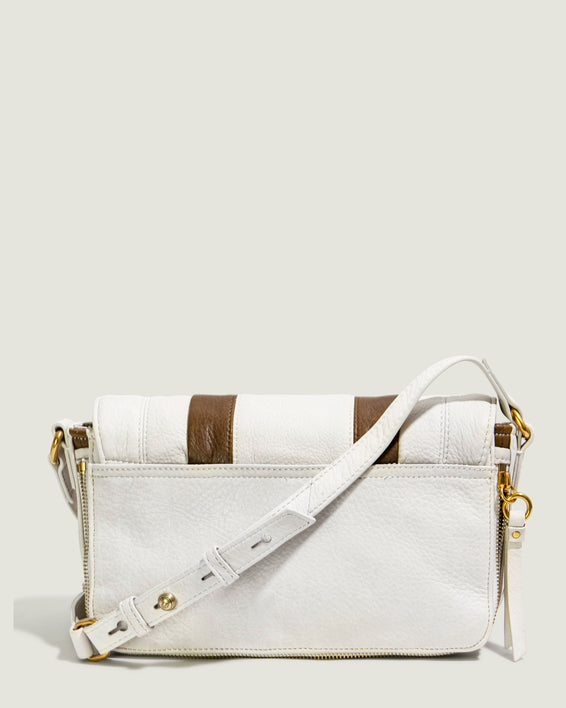 Maple Flap Crossbody - stone back