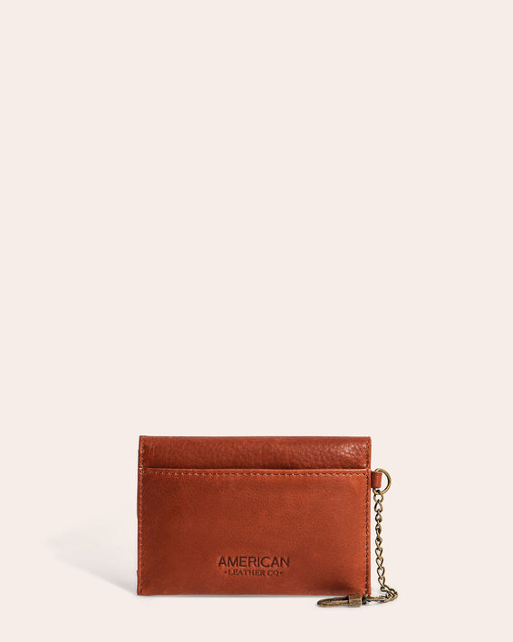 American Leather Co. Monica Coin Purse Brandy - back