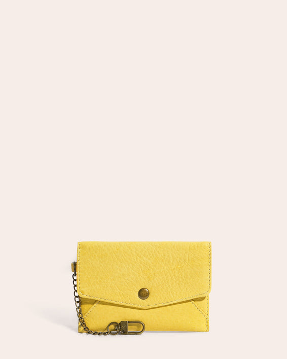 American Leather Co. Monica Coin Purse Pale Yellow - front