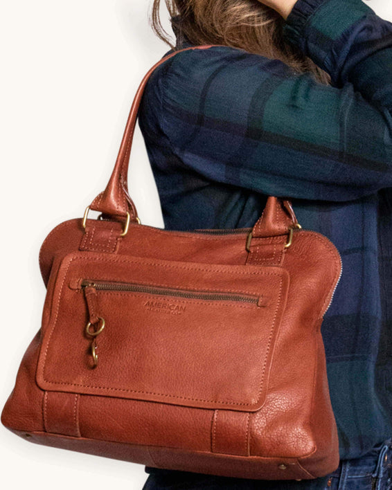 Montauk Dome Satchel - brandy lifestyle