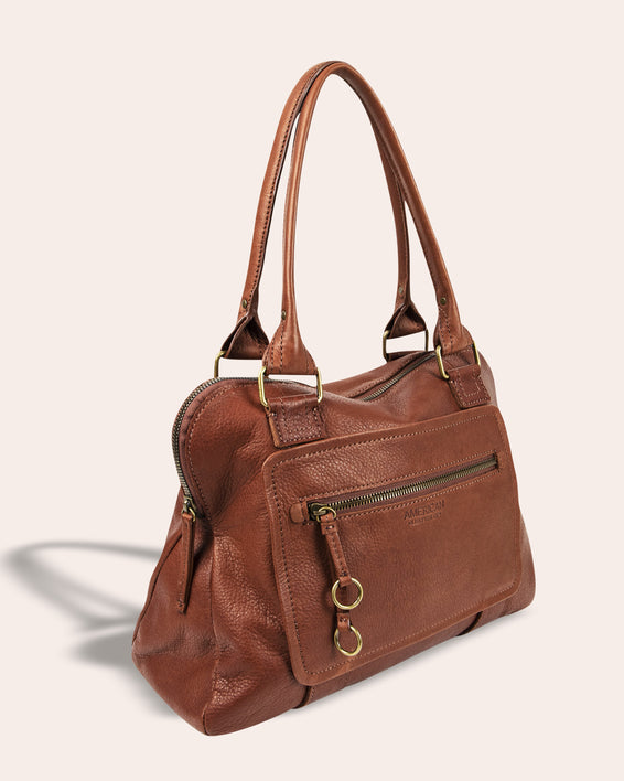 Montauk Dome Satchel - side angle