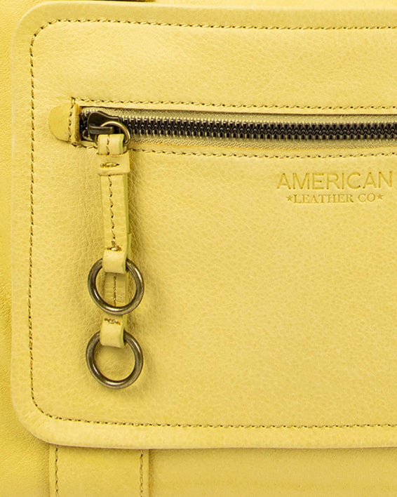 Montauk Dome Satchel - pale yellow lifestyle