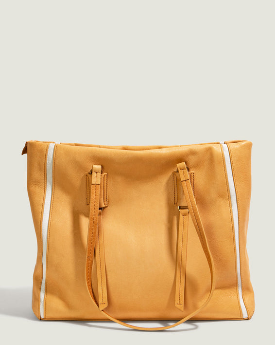 Shirley Tote - apricot front
