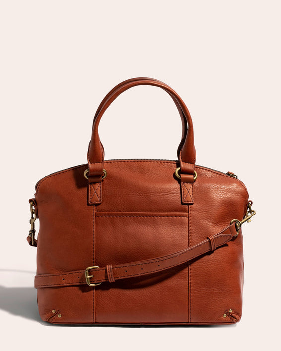 Hanover Dome Satchel Stone - back