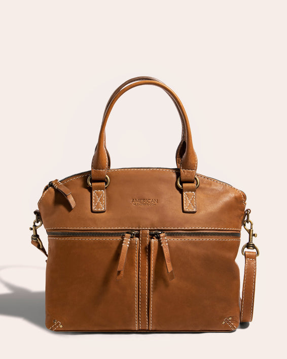 Hanover Dome Satchel Cafe Latte - front