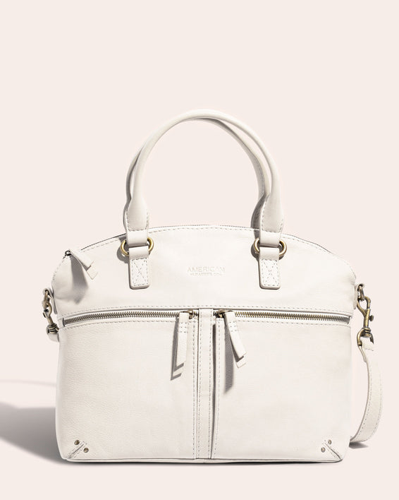 Hanover Dome Satchel Stone - front