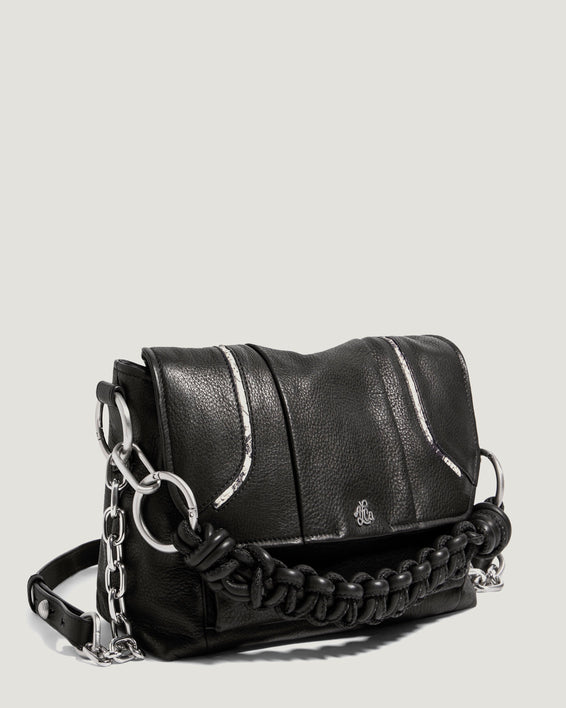 Iberis Convertible Shoulder Black With Snake - side angle