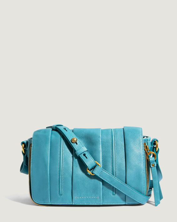 Zebrina Flap Crossbody Retro Blue - front