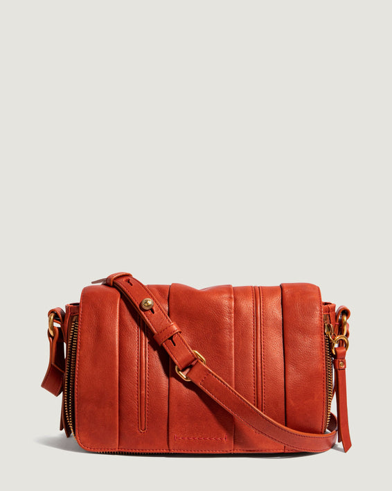 Zebrina Flap Crossbody Whiskey - front