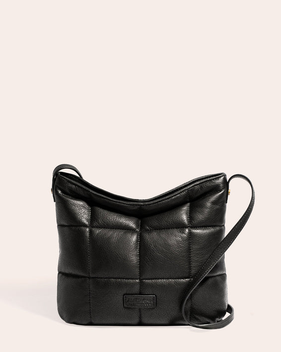 American Leather Co. Stella Quilted Crossbody Black - front