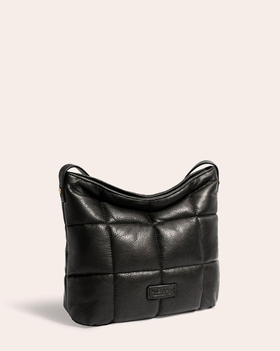 American Leather Co. Stella Quilted Crossbody Black - side angle