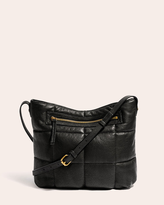 American Leather Co. Stella Quilted Crossbody Black - back