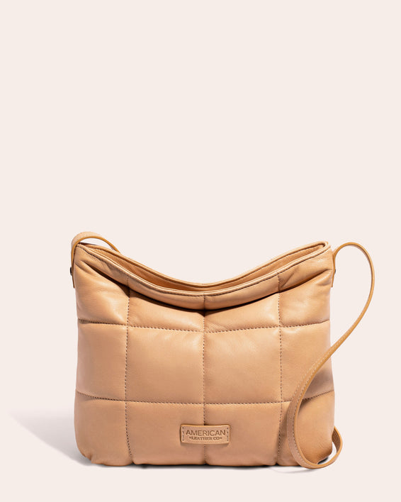 American Leather Co. | Stella Quilted Crossbody Butter Rum - front