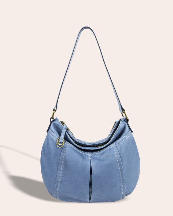 Vienna Double Entry Hobo - bay blue front