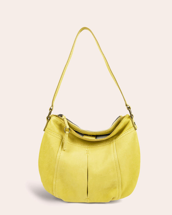 Vienna Double Entry Hobo - pale yellow front