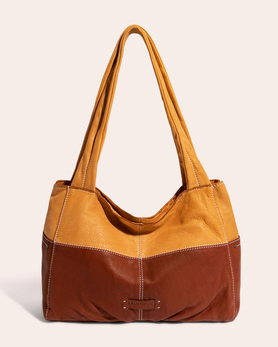 American Leather Co. Virginia Shopper Apricot - front