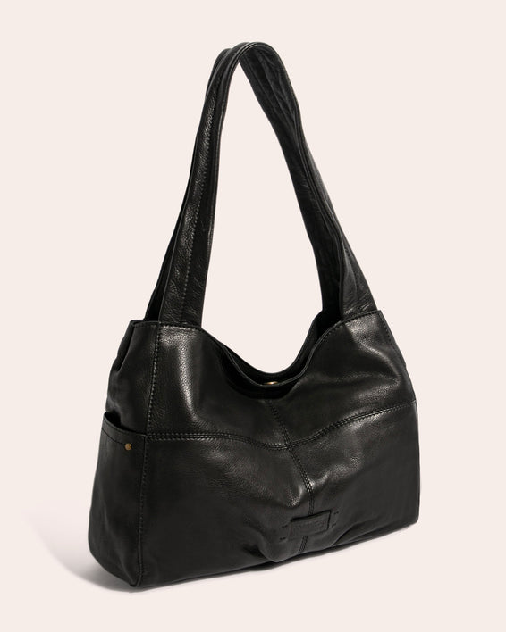 American Leather Co. Virginia Shopper Stone - side angle