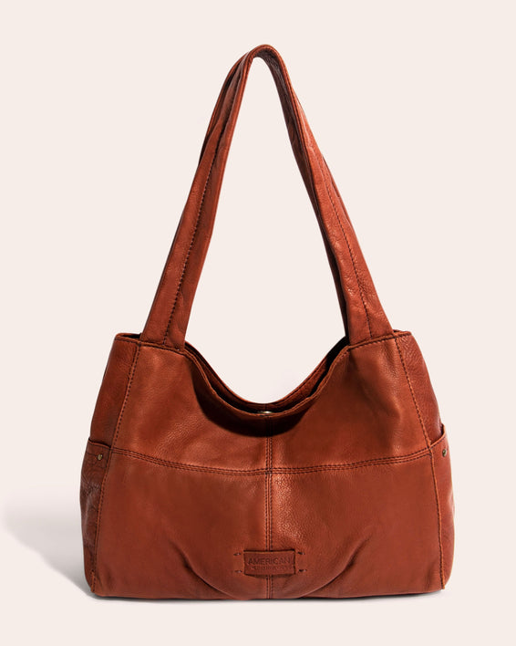 American Leather Co. Virginia Shopper Brandy - front