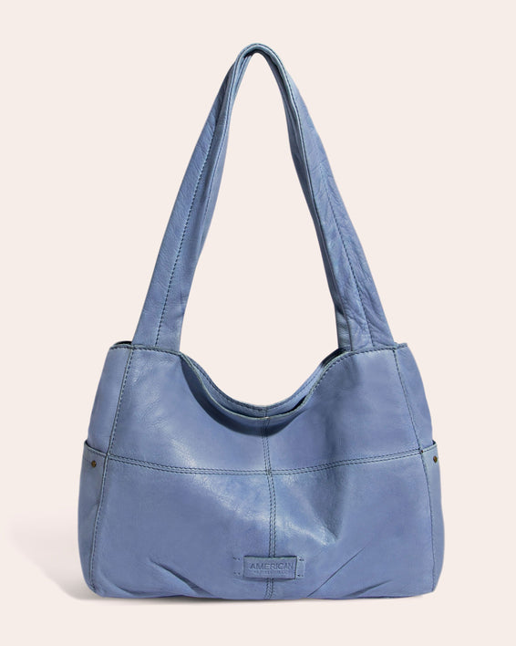 American Leather Co. Virginia Shopper True Blue - front