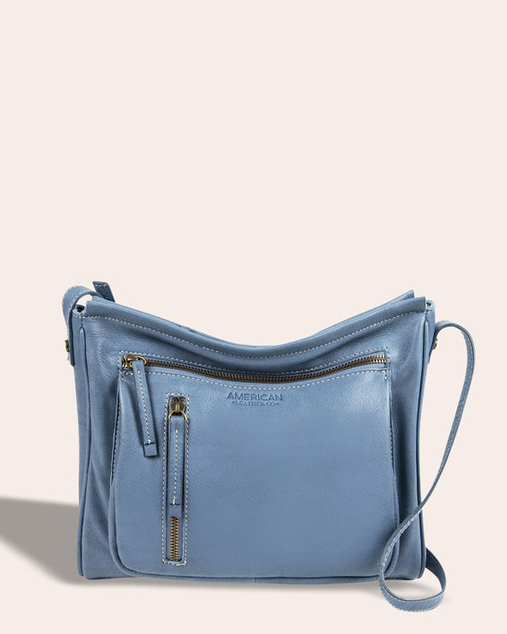 Washington Crossbody - bay blue front