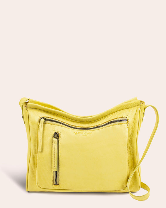 Washington Crossbody - pale yellow front
