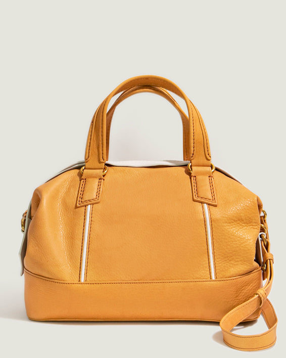 Willow Draped Satchel - brandy front