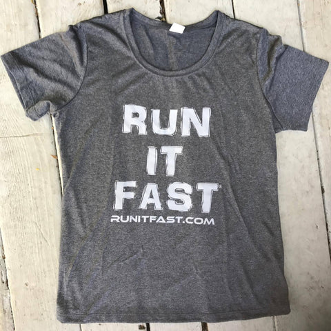 Run It Fast® Women's Graphite Heather (Dark Gray) Tech Shirt