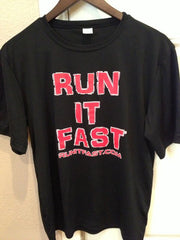 Run It Fast® Black Sport Tek Short Sleeve Club Tech Shirt