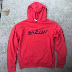 Run It Fast Red Heather Hoodie