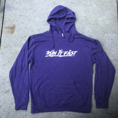 Run It Fast Purple Hoodie