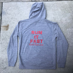 Run It Fast Graphite Gray Hoodie (Back)