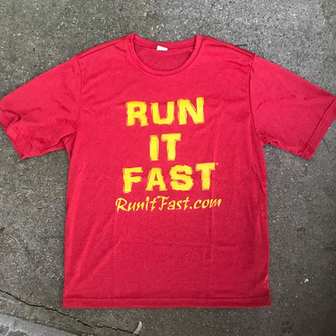 Run It Fast® Men's Scarlet Heather Tech Shirt
