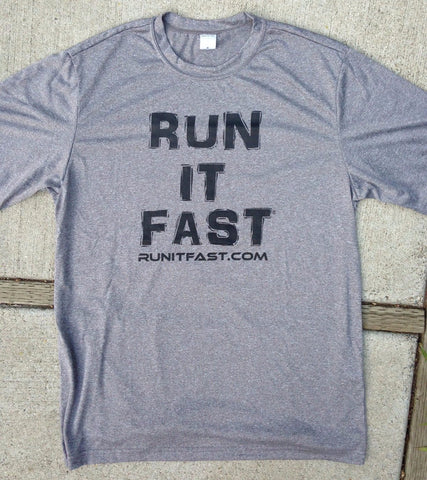 Run It Fast® Men's Heather Gray Tech Shirt