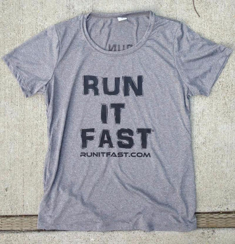 Run It Fast® Women's Heather Gray Tech Shirt