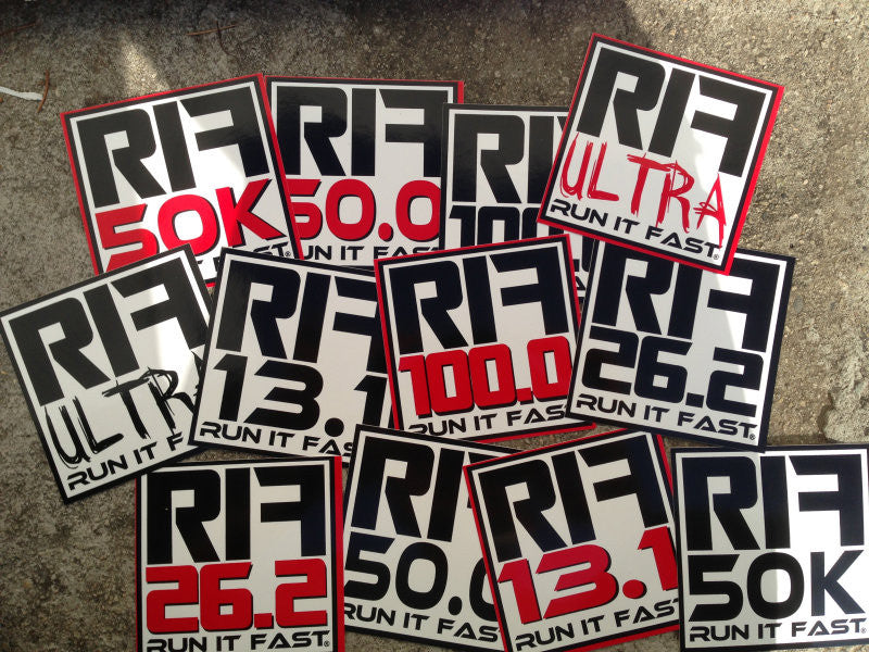 Run It Fast® Distance Stickers