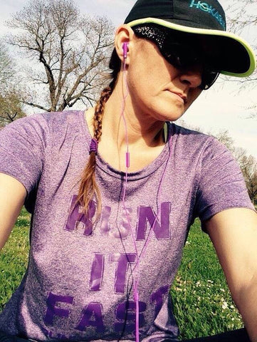 Run It Fast® Women's Purple Heather Tech Shirt
