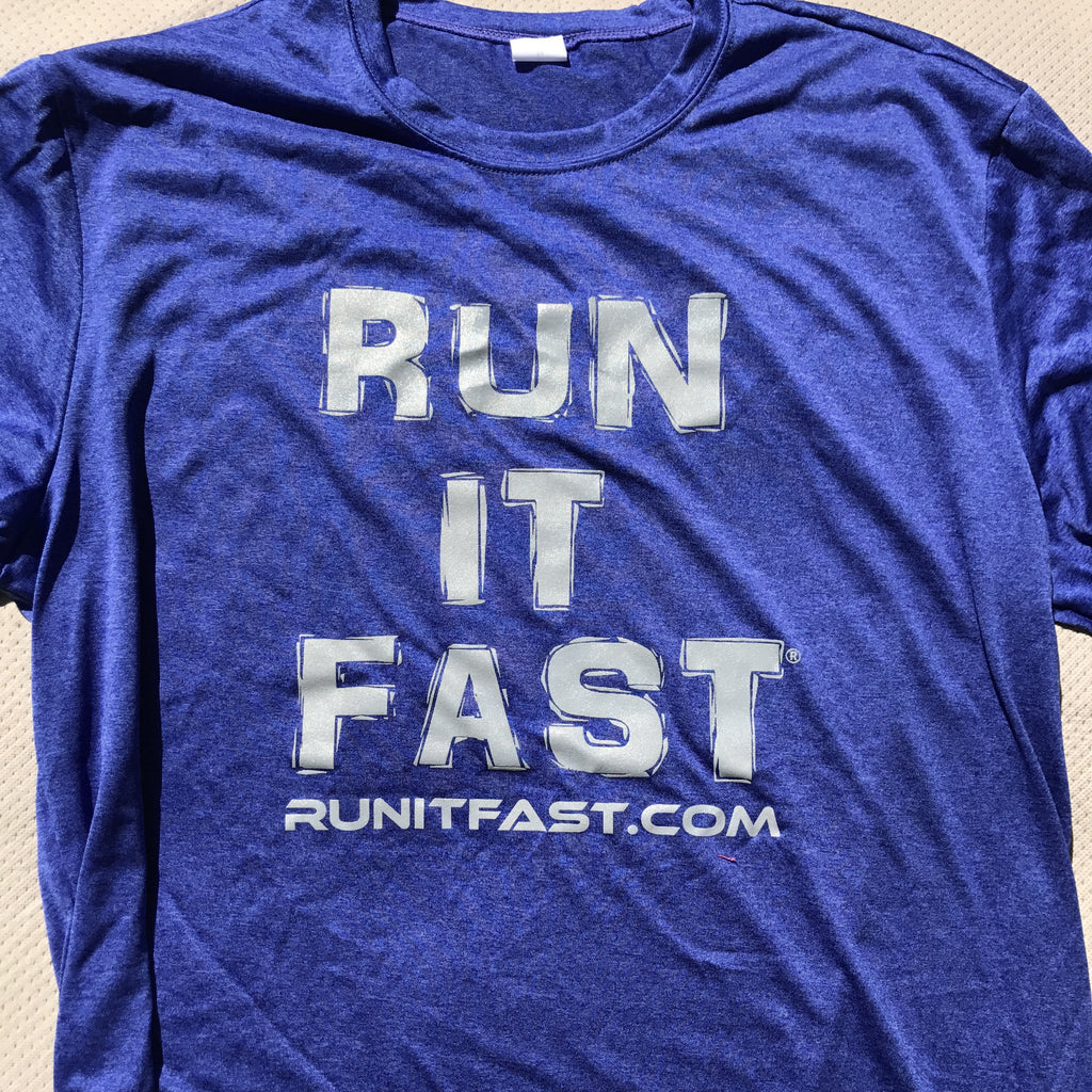 Run It Fast® Men's Cobalt Blue Tech Shirt